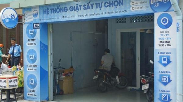 biển quảng cáo cho tiệm giặt
