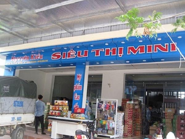 biển quảng cáo cửa hàng tạp hóa