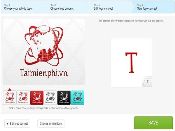 Tạo logo thương hiệu trên website miễn phí