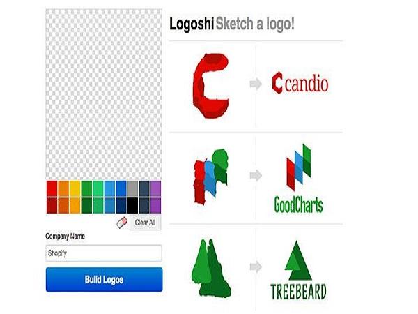 Sử dụng trang web miễn phí tạo logo